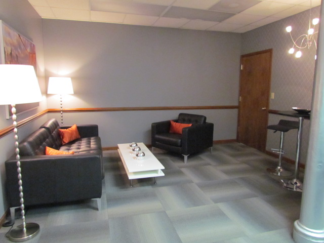 view of sitting area from conference room