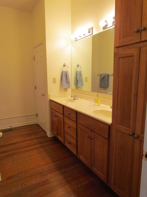 Large double sink vanity