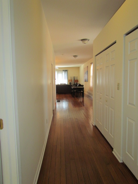 Hallway with Laundry room and large Entry Closet