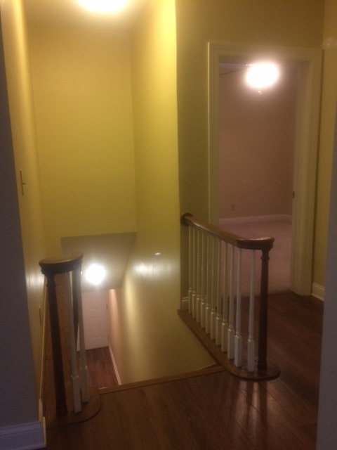 Stairway up to apartment
